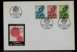 FDC  - EUROPA  CEPT  -  1967 - PORTUGAL - 1967