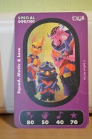 Carte Walibi The Battle Game - Wab Or Skunx ? - Carrefour - N° 98 Squad, Motiv Et Loco - Trading Cards