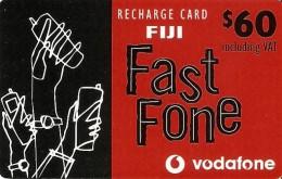 *IS. FIJI - RECHARGE CARD VODAFONE* - Scheda Usata - Figi