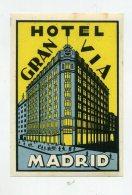 MADRID, Spain - Luggage Label - HOTEL GRAN VIA - (456) - Hotel Labels