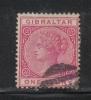 W762 - GIBILTERRA , Vittoria 1 Penny  N. 9 Usata  Fil CA - Gibilterra