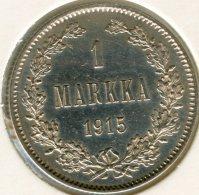 Finlande Finland 1 Markka 1915 S Argent KM 3.2 - Finlande