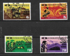Kenya Uganda Tanzania 1974 Welfare Conference, Complete Set Used (4287) - Kenya (1963-...)