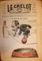 Journal Satirique - LE GRELOT - 1886 - La Route Du Trone, Illustration En Couleur D'Alfred Le Petit - 1850 - 1899