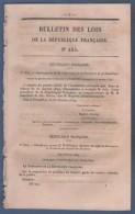 1879 - BULLETIN DES LOIS - PRESIDENT DE LA REPUBLIQUE JULES GREVY - MINISTERE WADDINGTON - MINISTRES - MINISTERE POSTES - Decrees & Laws