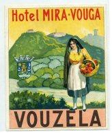 PORTUGAL, Vouzela - Hotel Mira Vouga - Luggage Label - (422) - Hotel Labels