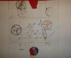 Lettre De Livourne Pour Saint Germain En Laye - Cad De Livorno  12 Mars 1860 - Marcophilie - EMA (Empreintes Machines)