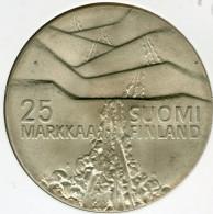 Finlande Finland 25 Markkaa 1978 Argent Jeux D'Hiver à Lahti KM 56 - Finlande