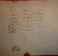 Lettre Avec Cachet Rouge St Germain En Laye En Port-payé Adressée à Mr Le Marquis De Mesgrigny, Colonel à Paris - Marcophilie (Lettres)