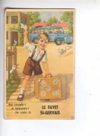 (n°683) CPSM 74 LE FAYET ST SAINT GERVAIS Au Revoir à Bientot Je Vais à Carte à Systeme Ou Tiroire  N°52 Complet Pli - Sallanches