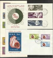 1972 Malta 3 Serie Su 3 FDC: 438/40+441/48+456/58 - Malta