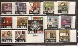 1973 Malta NUOVA ORDINARIA Serie Di 15v.(459/73) Con Bordo MNH** - Malta