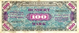 GERMANY WEST 100 MARK BLUE MOTIF FRONT & BACK  DATED SERIES 1944 VF P? READ DESCRIPTION !! - [ 5] 1945-1949 : Allies Occupation