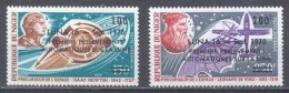 Niger Poste Aérienne YT N°141/142 Isaac Newton - Léonard De Vinci Surchargé Luna 16 Neuf/charnière * - Niger (1960-...)