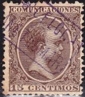 1899 ED. 219 ALFONSO XIII USADO CANET DE MAR BARCELONA CARTERÍA OFICIAL TIPO II SPAIN SPANIEN ESPAGNE SPANJE - Usados
