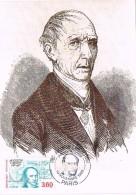 17550. Tarjeta Maxima PARIS (France) 1989. Agustin Cauchy, Mathematiques - Cartas Máxima