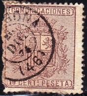 1874 ED. 153 ALFONSO XII USADO TARRAGONA FECHADOR DE 1874 SPAIN SPANIEN ESPAGNE SPANJE - Gebraucht
