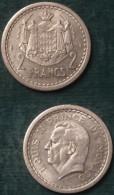 M_p> Monaco 2 Franchi Senza Data ( 1943 )  Alluminio - Alta Conservazione - 1922-1949 Luigi II