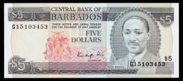 Barbados 5 Dollars 1986 P.37 UNC - Barbados