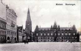 MALMÖ - Stortorget, Gel.1912 Mit Marke - Schweden