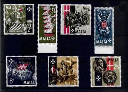 Malta 1965 Great Seige Anniversary Complete Set LMM (4353) - Malta (...-1964)