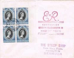 17565. Carta HAMILTON (Bermuda) 1953. Coronation Queen Elisabeth II - Bermudas