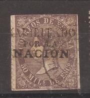 1867 Isabel II Edifil 98(*) Habilitado Por La Nación - 1850-68 Reino: Isabel II
