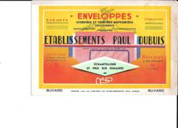 Buvard  ETABLISSEMENTS  PAUL  DUPUIS  à  ROANNE  ( 42 ) Enveloppes  Vitrifiées Et Fenêtres Rapportées - Buvards, Protège-cahiers Illustrés