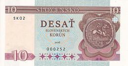 SLOVAQUIE  10 Korun   2016 UNC    Essai - Spécimen - Slovaquie