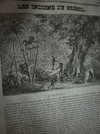 1834 LM : Les Indiens Du Brésil ( Et Gravure); La Coquille TRIDACNE ;Monument De CONFUCIUS (Chine); Le GANGE En Inde - Vieux Papiers