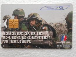 TELECARTE 50 - L´armée De Terre Recrute Recherche BEPC CAP BEP BAC Pour Travail D´équipe - Bien Plus Qu´un Métier - Armée