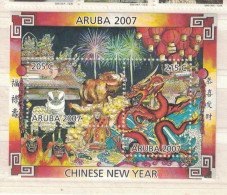Aruba. 2007. Year Of The Pig. MNH Sheet Of 2. SCV = 5.25 - Antillas Holandesas
