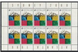 Australia. 1996. Kangaroo And Bald Eagle. MNH Sheet Of 10. SCV = 11.00 - Oiseaux