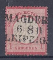 DR Minr.4 Bahnpoststempel L3 Magdeburg-Leipzig - Used Stamps
