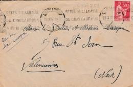 Chateauroux  1937 - LAC Flamme CHA751 (catalogue Dreyfuss) + 2 Petites Photos Camp De La Martinerie