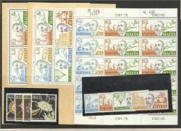 1974 Malta 2 BF.4 + 2 Serie (492/95 + 496/99) + 492/93 In Bl.di 10 MNH** - Malta