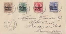 Dt Besetzung Belgien Brief Mif Minr.1,2,3,4 Brüssel - Occupation 1914-18