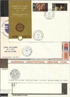 1975 Malta ANNATA FDC - YEAR - 5 SERIE SU 5 FDC: 500/02+503/06+507/08+509/ 12+513/15 - Malta