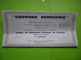 COIFFURE SEMIRAMIS (200 Titres Emis) CASABLANCA-MAROC - Aandelen