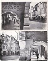 39. Pf. LONS-LE-SAUNIER. Les Arcades De La Rue Du Commerce. 2 Cartes - Lons Le Saunier