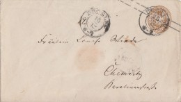 Preussen GS-Umschlag 3 Sgr. Breslau 16.12. Gel. Nach Chemnitz - Preussen