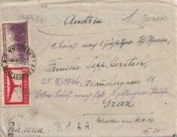 ARGENTINIEN 1946 - 40 C + 1 Peso Auf LP-Zensur-Brief Von Buenos Aires Gel.n.Wien, Brief Mit 3 Seitigen A4 Format ... - Argentinien