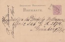 DR Ganzsache Bpst. L3 Lübbenau-Dresden - Deutschland