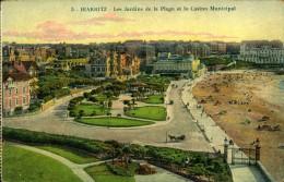 N°1409 PPP 381  BIARRITZ  LES JARDINS DE LA PLAGE ET LE CASINO MUNICIPAL - Biarritz