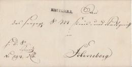 Thurn & Taxis Brief L1 Eisfeld R.3. Gel. Nach Sonneberg L2 12.2.1847 (Rot) - Thurn Und Taxis