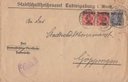 DR Brief Dienst Mif Minr.2x D53, D54 Ludwigsburg - Dienstpost
