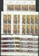 1976 Malta CHRISTMAS  ANATOMY - NATALE + ANATOMIA (533/36 X 9 + 529-32 X 15) MNH** - Malta