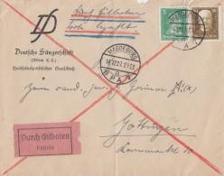 DR Brief Eilbote Mif Minr.387,406 Magdeburg 14.12.27 Gel. Nach Göttingen - Deutschland