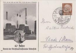 DR Privat-Ganzsache Minr. PP122 D3 SST Bitterfeld 5.9.37 - Deutschland