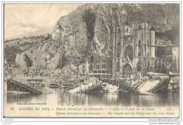 DINANT ..-- Destruction 1914 . Cachet MILITARIA Français 1914 Vers PARIS ( Mr GRANDJACQUES ) . Voir Verso . - Dinant